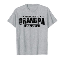 Load image into Gallery viewer, Mens Men Humor Promoted To Grandpa EST 2019 Fathers Day T-Shirt