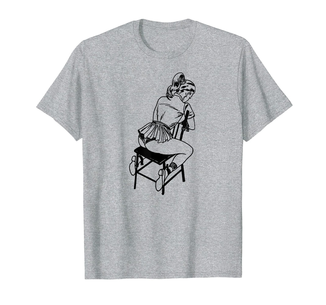 Retro BDSM Rope Chair Bondage T-shirt-Lingerie Pin Up Art