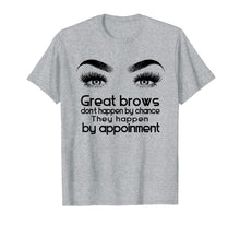 Load image into Gallery viewer, Makeup Artist Tee Shirt: Cute Microblading Brow Tshirt