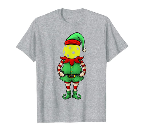 Funny Christmas Pickleball Elf, Pickleball Gifts T-Shirt