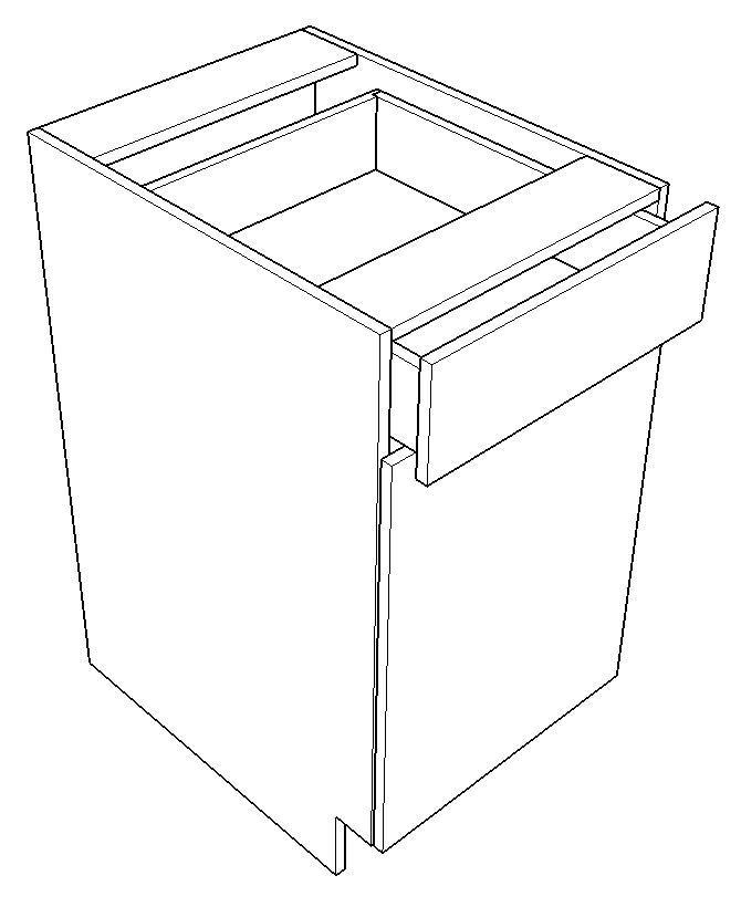 Base with Drawer - Single Door (Stowe - Blue Jeans)