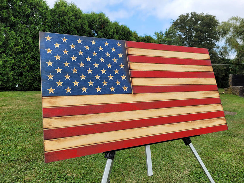 American Wooden Flags Collection