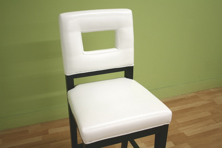 Cream Leather Barstool