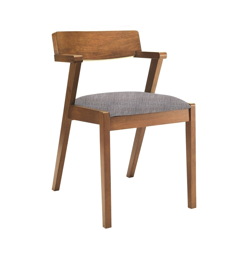Modern Dining Chair - Cocoa & Coral