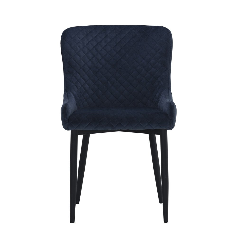 Contemporary Dining Chair - Navy