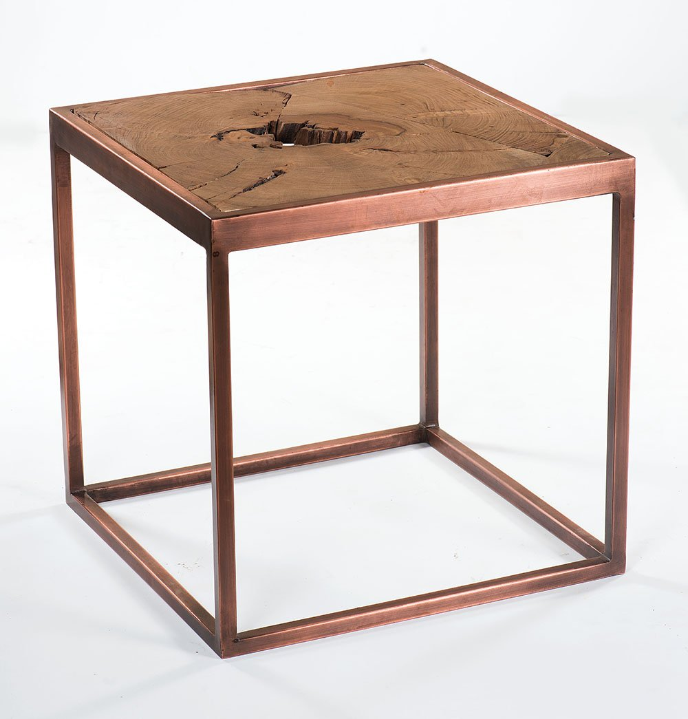 Urban Side Table with Copper Base