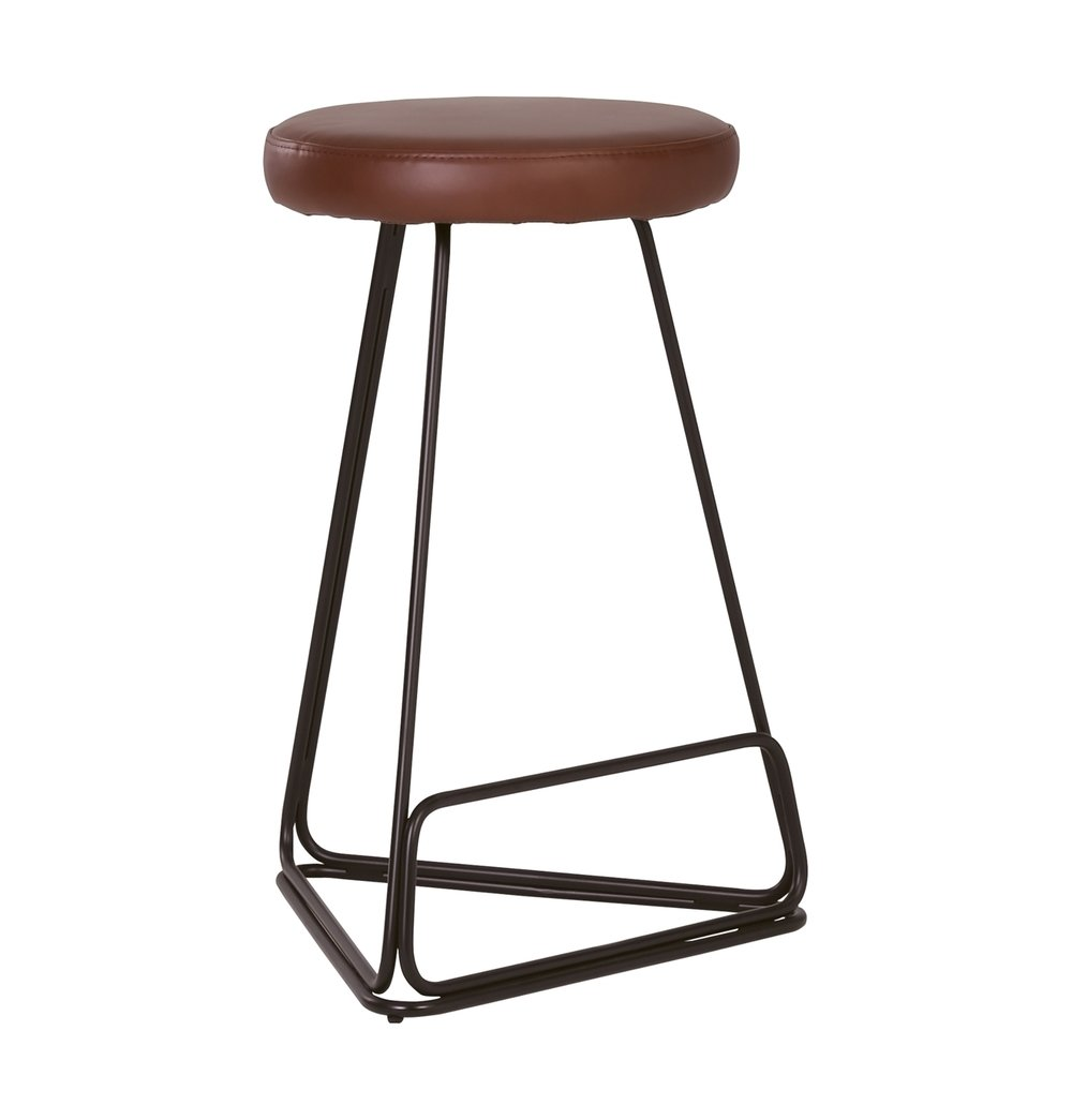 Contemporary Counter Stool - Brown