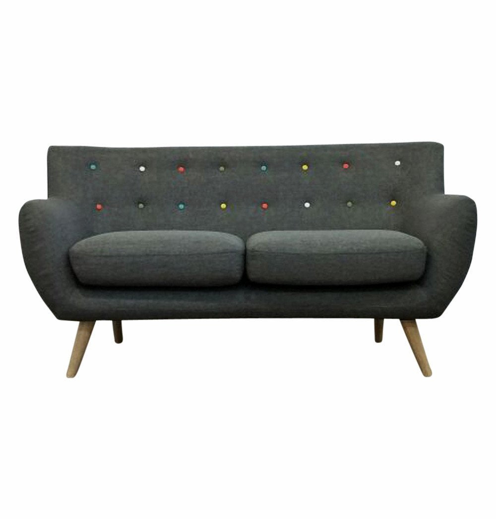 Multicolor Button Tuffted 2-Seater Sofa