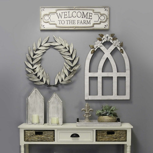 "30"" X 1.15"" X 10"" White Wash Fir Wood Mdf With Wood Veneer Wall Decor"