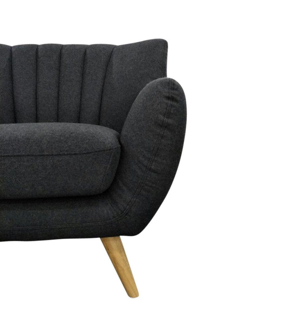 Modern 1-Seater Lounge Chair - Dark Grey