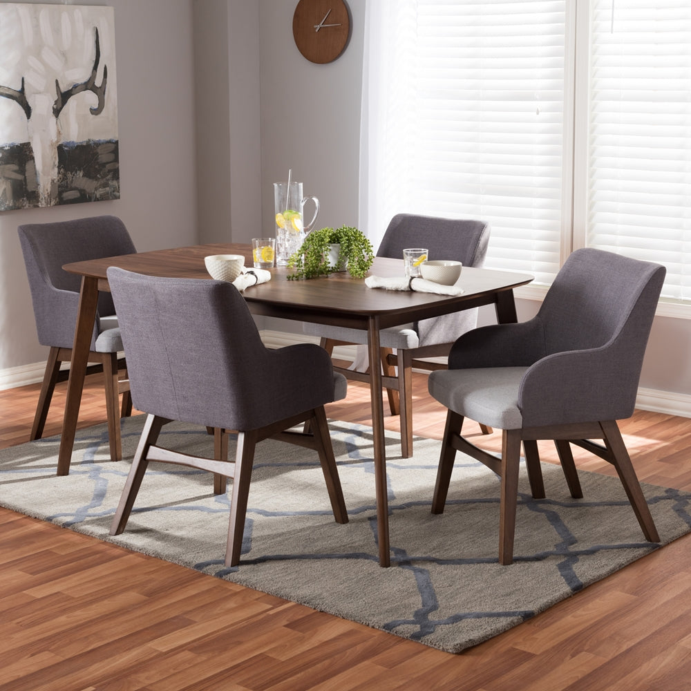 Walnut Wood Dining Set