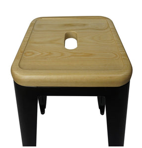 Natural Wood Seat Bar Stool