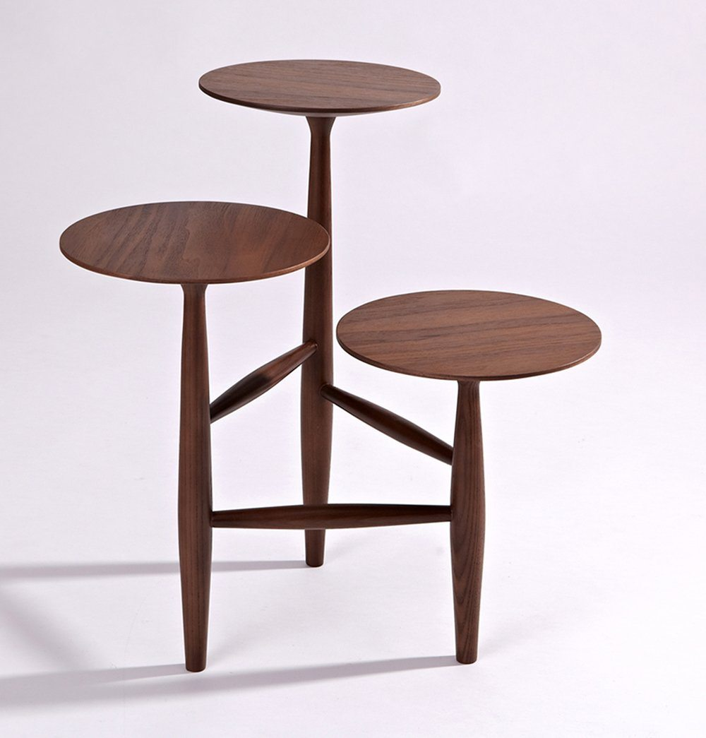Tripod and Pedestal Side Table