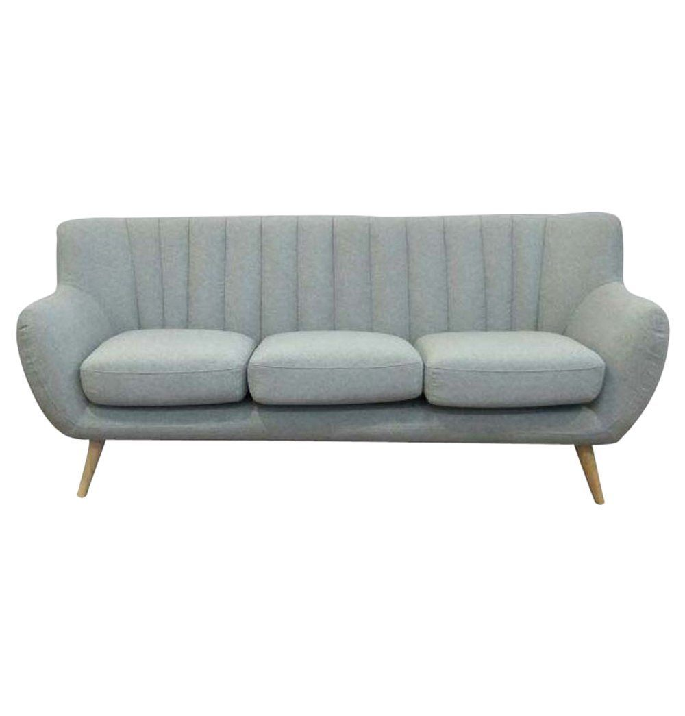 Casual Posh Modern 3-Seater Sofa - Light Grey
