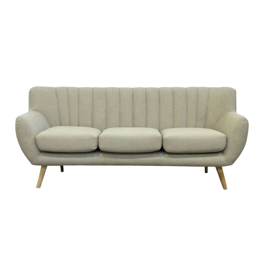 Biege 3-Seater Sofa