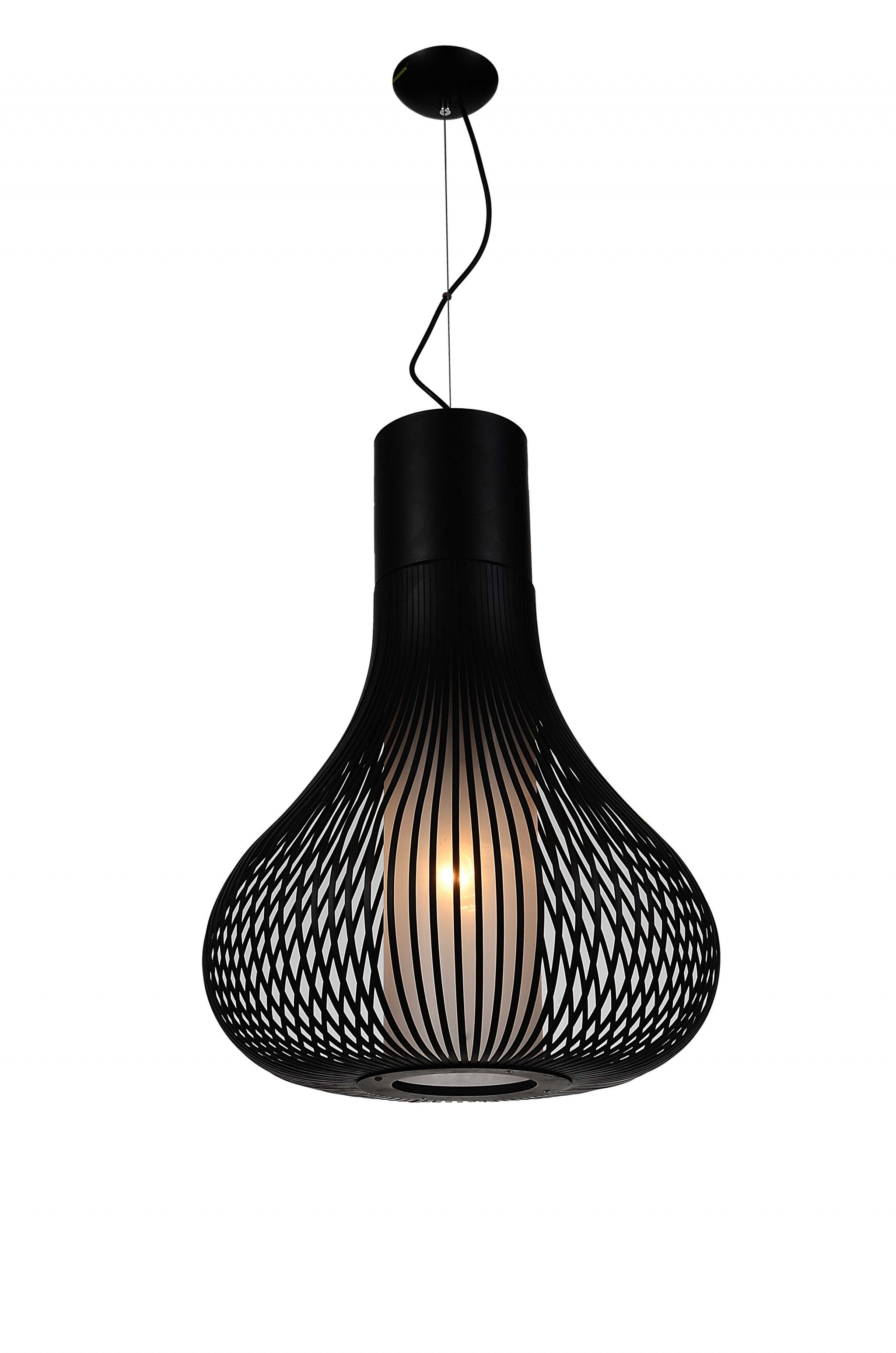"20"" X 20"" X 26"" Black Carbon Steel Pemdant Lamp"