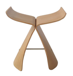 Contemporary Butterfly Stool - White Oak