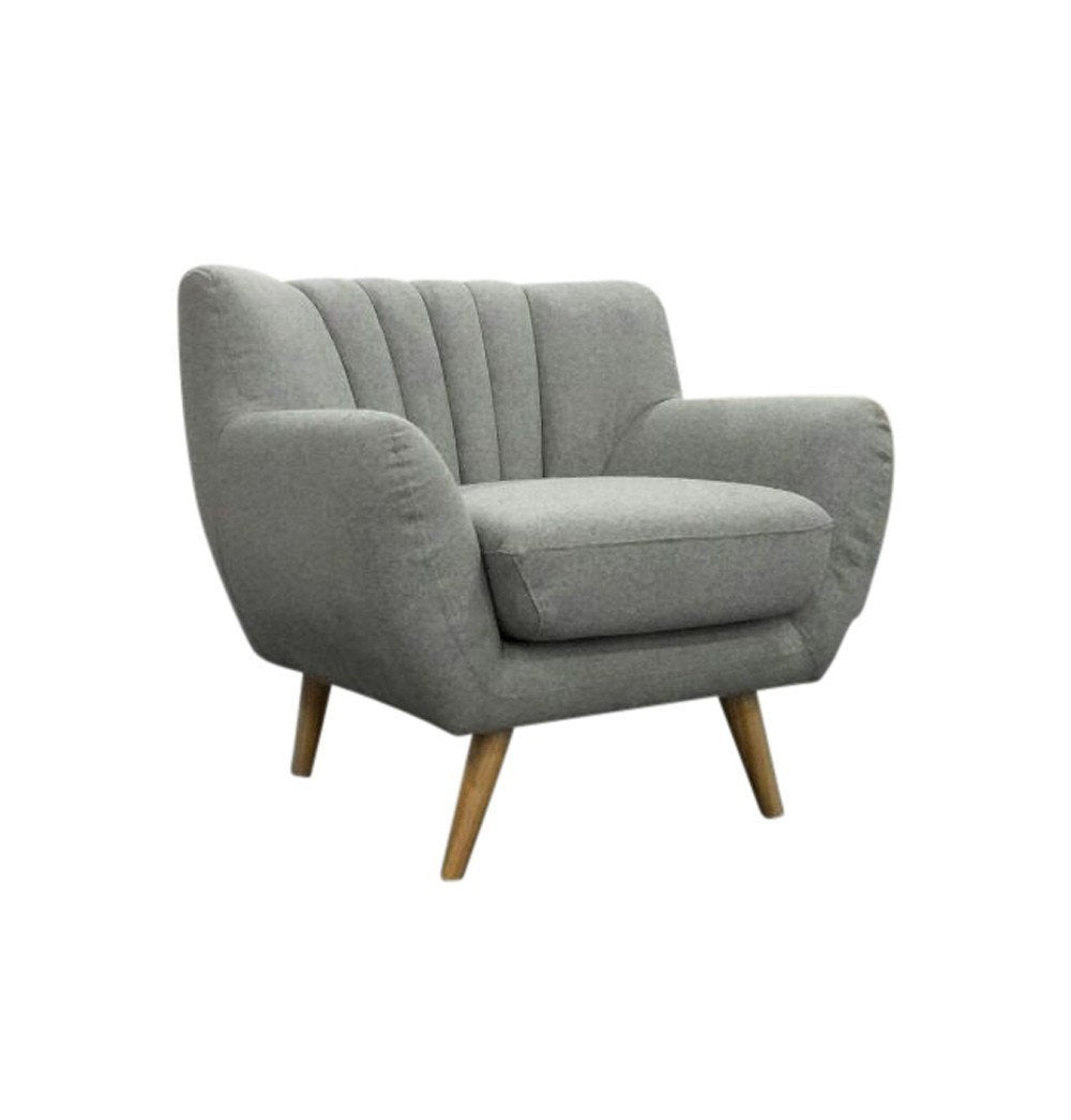 Modern Lounge Chair - Light Grey