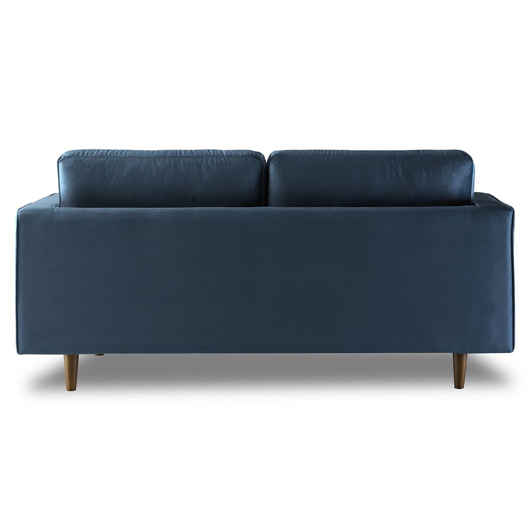 Modern Solid Wood Tufted Velvet Loveseat 2-Seater Sofa