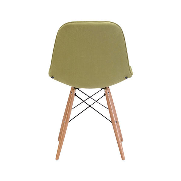 "18.7"" X 21.7"" X 31.9"" Green Velour Poly blend Wood Dining Chair"