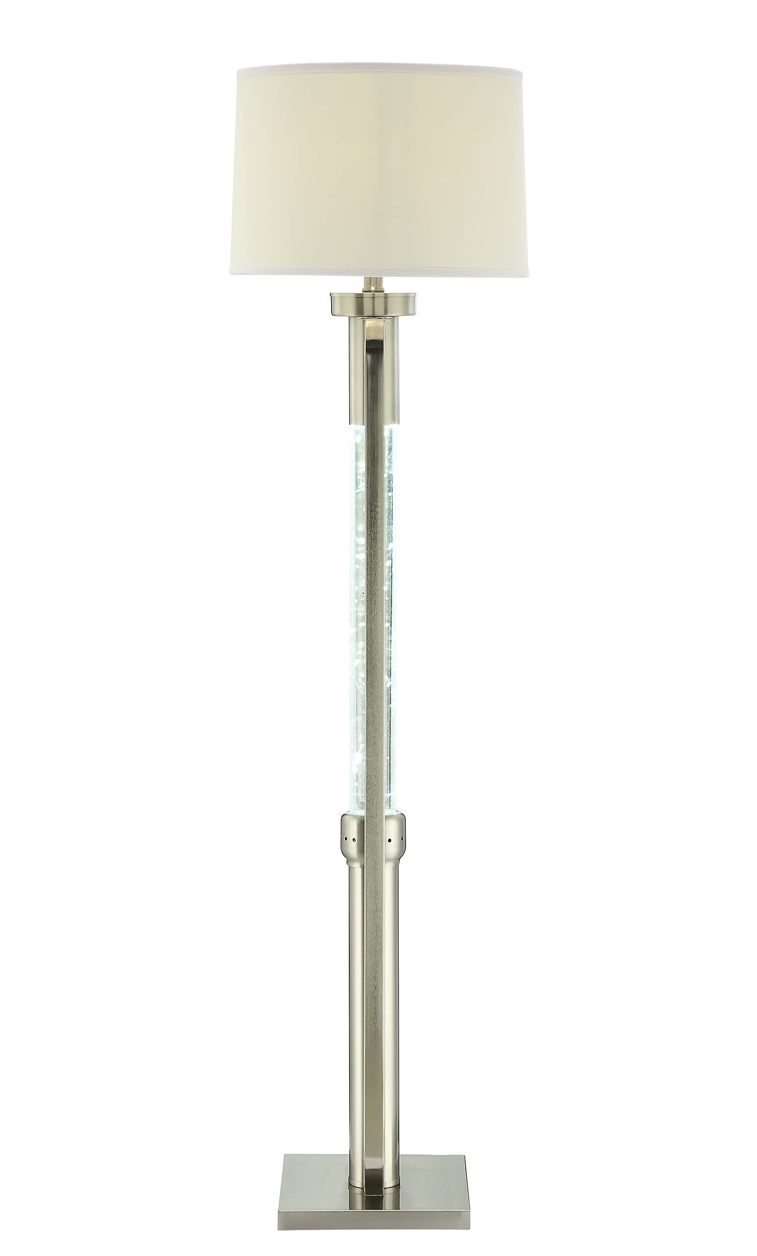 "15"" X 15"" X 58"" Sand Nickel Floor Lamp"