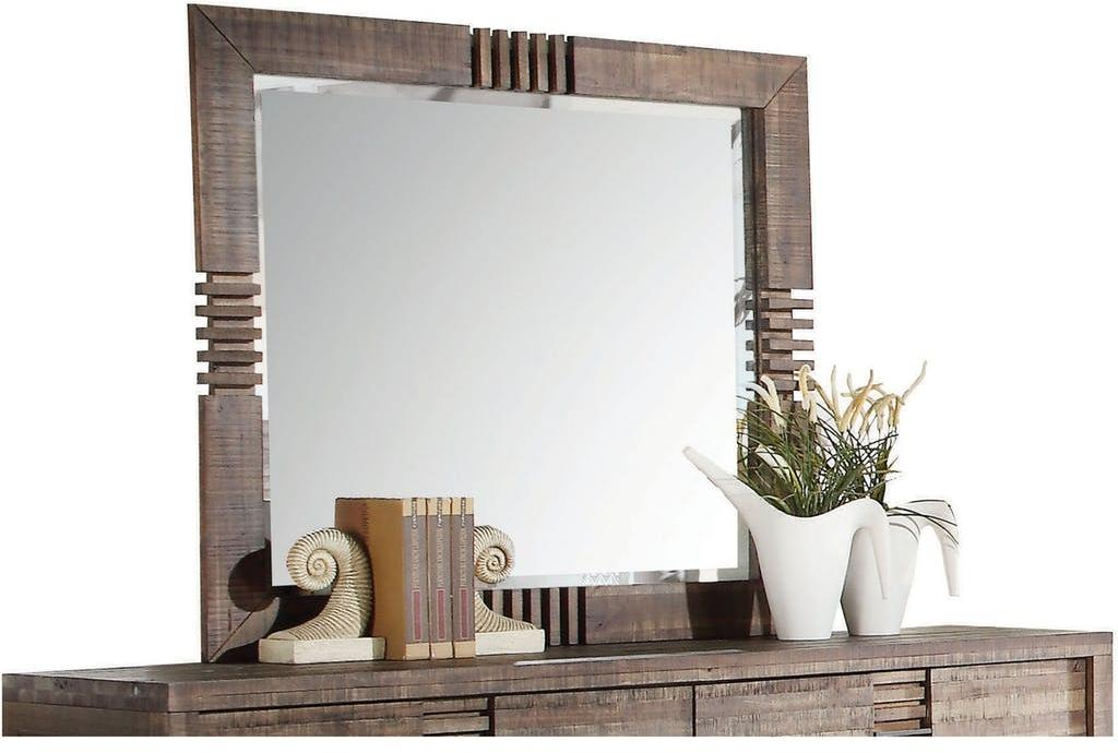 "44"" X 2"" X 39"" Reclaimed Oak Mirror"