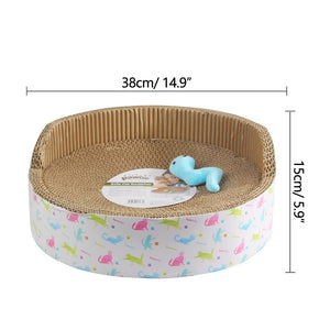 PAWISE Cat Scratcher Sofa Cardboard Scratching Lounge Reversible Kitty Scratching Pad