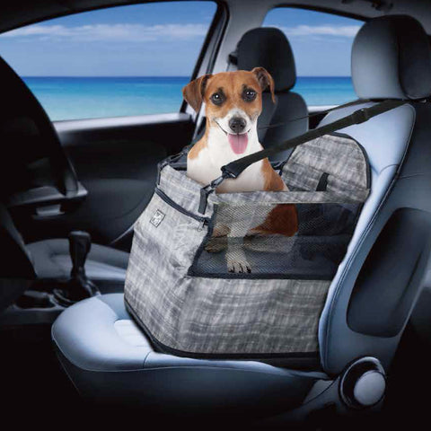 Dog Car Seat Perfect for Small and Medium Pets up to 30 lbs (Grey)