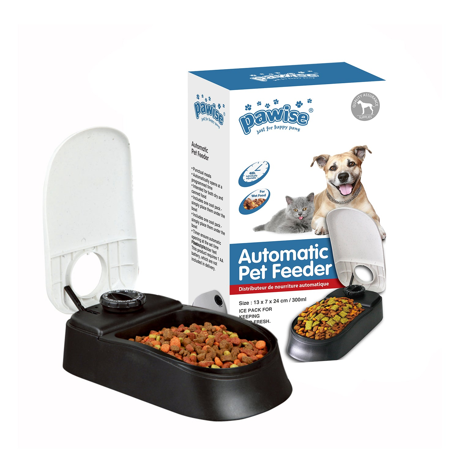Automatic Food Dispenser For Cats And Dogs 1 Meal All For Paws Pet