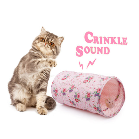 Crinkle Cat Tunnel Tube (Shabby Chic)