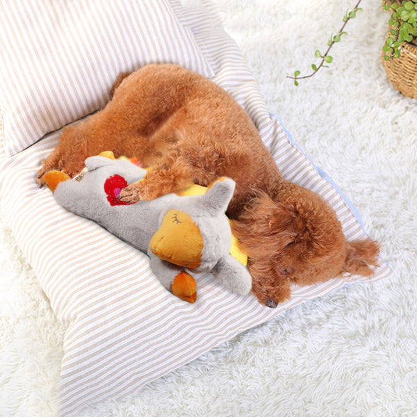 Puppy Behavioral Aid Toy Heart Beat Sheep Warm Plush Toys