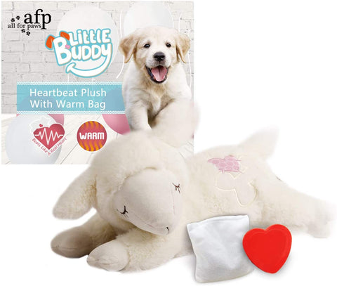 Snuggle Sheep Pet Behavioral Aid Toy (Heartbeat + WarmBag)