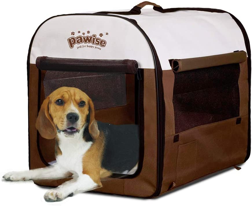 PAWISE Portable Soft Dog Crate Folding Pet Kennel Cat Samll Animal Tent Indoor & Outdoor Pet Carrier