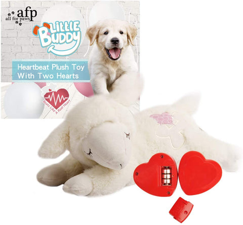 Snuggle Sheep Pet Behavioral Aid Toy (Double Heartbeat)