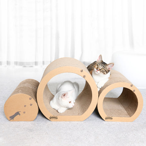 PAWISE Cat Scratcher Cardboard Reversible Kitty Scratching Pad Cat Scratcher Refill Lounge (3 in 1 Tube, 13 x 12 x 11)