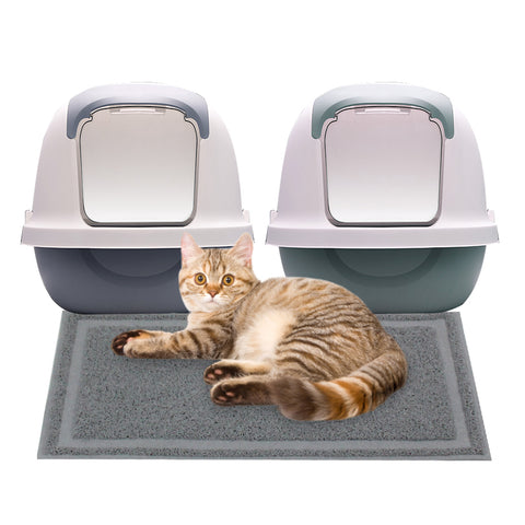 PAWISE Cat Litter Mat Trapping Mat Litter Box Rug Carpet Easy Clean Washable for Floor Waterproof