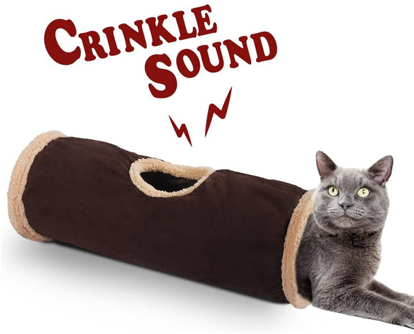 Crinkle Cat Tunnel Tube (Lambswool)