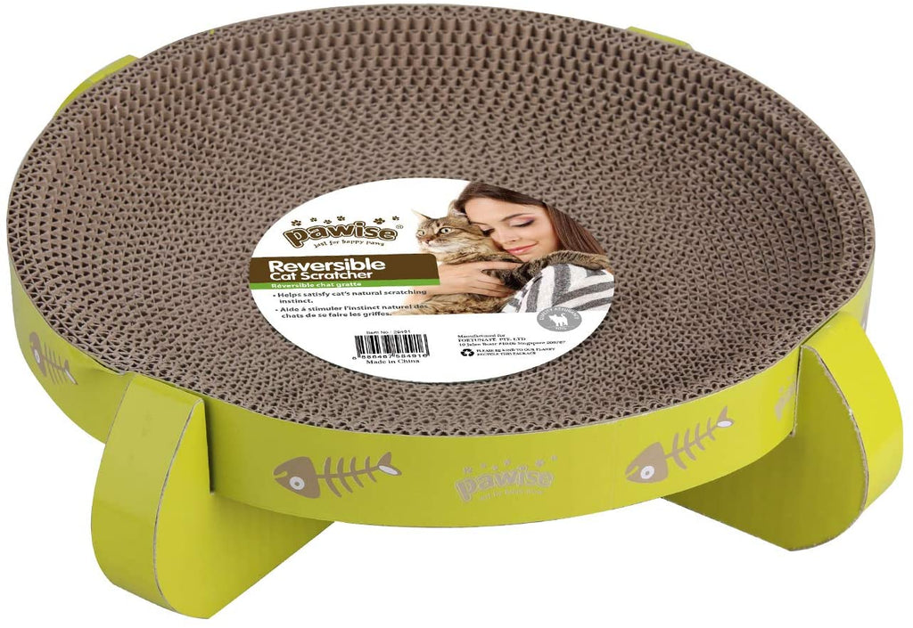 Pawise Cat Scratcher Cardboard Reversible Kitty Scratching Pad