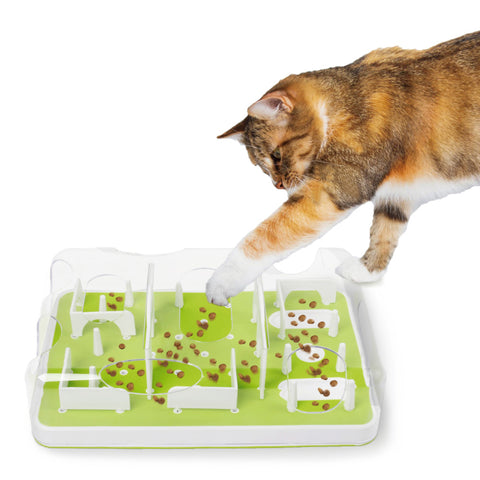 Interactive Puzzle Cat Feeder