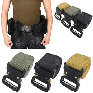 Multi-functional Military Tactical Outdoor Training Belt Outside Belt Tactical Nylon Belt