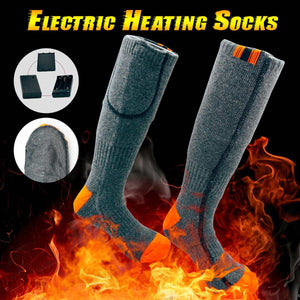 Thicken Thermal Cotton Electric Heated Socks Sport Ski Socks Winter Foot Warmer Electric Warming Sock