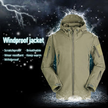 Load image into Gallery viewer, Windproof SoftShell Jacket Outdoor Hunting Windbreaker  Rain Camping Fishing