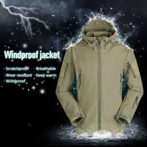 Windproof SoftShell Jacket Outdoor Hunting Windbreaker  Rain Camping Fishing