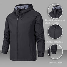 Load image into Gallery viewer, Spring Jacket Men Waterproof Coat Hooded Zipper Windproof Warm