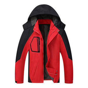 Spring Jacket Men Waterproof Coat Hooded Zipper Windproof Warm
