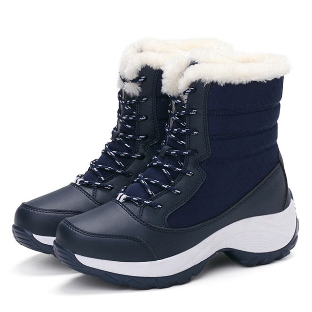 2019 Women Snow boots Waterproof Non-slip Parent-Child Winter Boots Plus Size 31-42