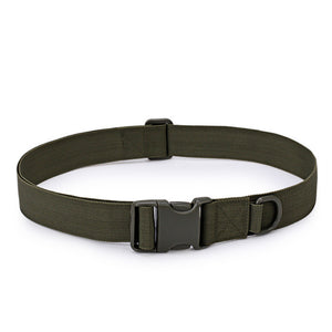 Nylon Military Waist Belt with Metal Buckle Adjustable Heavy Duty Training Waist Belt Hunting Accessories