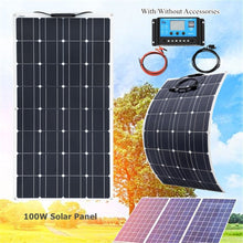 Load image into Gallery viewer, Xinpuguang Brand 100 W flexible solar panel kit 100 watt for Home,Yacht, RV,Caravan, Cabin, Boat and 12v Battery Charger