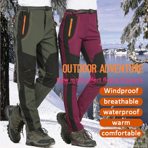 Men Women Outdoor Hiking Pants Softshell Trousers Waterproof Windproof  PantsTrousers M-4XL Oversized Outdoor Pant