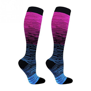 Men Professional Compression Socks Breathable Shin Splints Flight Travel